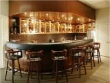 Home Bar Design Plans Basement Bar Idea Rounded at the End Basement Ideas