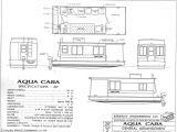 Home Boat Building Plans Aqua Casa Houseboat