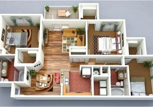 Home Building Plans Online 3d House Plans 3 Bedroom House Floor Plan Draw 3d House