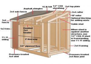 Home Built Shed Plans Modern Shed Plans 10 12