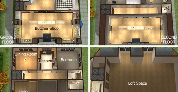 Home butcher Shop Plans Sunni Designs for Sims 2