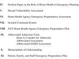 Home Care Emergency Preparedness Plan Emergency Preparedness Packet for Home Health Agencies Pdf