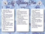 Home Cleaning Plan House Cleaning Free Weekly House Cleaning Plan