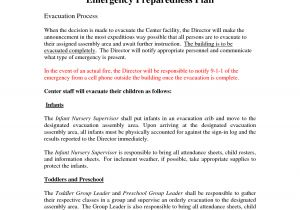 Home Daycare Fire Evacuation Plan Best Photos Of Emergency Preparedness Plan Sample