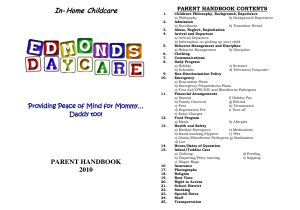 Home Daycare Fire Evacuation Plan Home Daycare Schedule In Home Childcare Daycare the