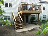 Home Deck Plans Second Floor Deck Designs Homes Floor Plans