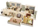 Home Design Plans 3d 25 More 3 Bedroom 3d Floor Plans Architecture Design