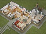 Home Design Plans 3d 25 Two Bedroom House Apartment Floor Plans