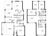 Home Design with Floor Plan 2 Storey House Floor Plan with Perspective Modern House