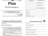 Home Emergency Plan Example Family Emergency Plan Printable Documents for Your
