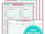 Home Emergency Planning Family Emergency Plan Printables Dear Diary Pinterest