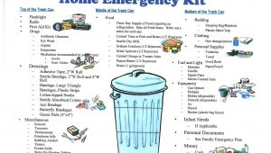 Home Emergency Preparedness Plan Disaster Emergency Preparedness