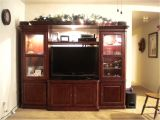Home Entertainment Furniture Plans Cherry Wood Entertainment Center Homesfeed