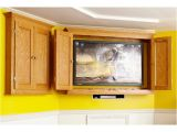 Home Entertainment Furniture Plans Slim Profile Tv Game Cabinet Woodworking Plan From Wood