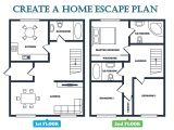 Home Escape Plan Template Fire Escape Plan Emc Security
