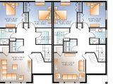 Home Family Plans Sleek Modern Multi Family House Plan 22330dr