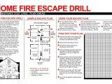 Home Fire Escape Plan Template Printable Fire Escape Plan Template Mybissim Com