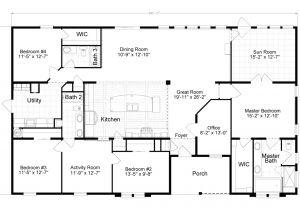 Home Floor Plan Tradewinds Tl40684b Manufactured Home Floor Plan or