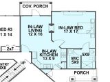 Home Floor Plans with Inlaw Suite Mother In Law House Plans the Plan Collection
