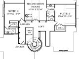 Home Library Floor Plans House Plan 85529 at Familyhomeplans Com