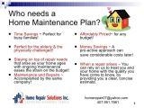 Home Maintenance Plan Home Maintenance Plan
