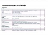 Home Maintenance Plan Home Maintenance Schedule Template for Excel Excel Templates
