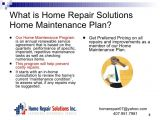 Home Maintenance Plans Home Maintenance Plan