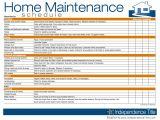 Home Maintenance Plans Maintenance Schedule Template Excel Natural Buff Dog
