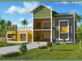 Home Model Plans Kerala Home Model Sloping Roof House Elevation at 1700 Sq Ft
