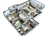 Home Plan 3d Design 25 More 3 Bedroom 3d Floor Plans