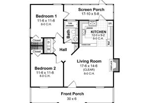 Home Plan for 800 Sq Ft Amazing House Plans Under 800 Sq Ft 5 Eplans Ranch House