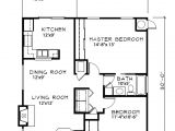 Home Plan for00 Sq Ft Cottage Style House Plan 2 Beds 1 00 Baths 900 Sq Ft