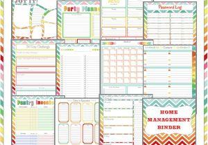 Home Planning Binder More Than 200 Free Home Management Binder Printables Fab