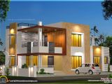 Home Plans Contemporary Floor Plan and Elevation Of Modern House Kerala Home
