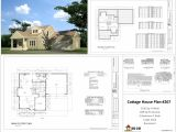 Home Plans Dwg Download H267 Cottage House Plans In Autocad Dwg and Pdf House Plans