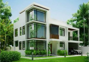 Home Plans Gallery White Modern Contemporary House Plans Modern House Plan
