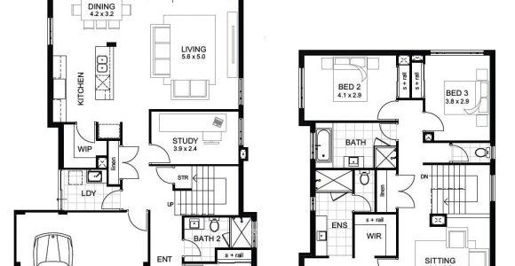 Home Plans Perth Sample Floor Plans 2 Story Home Unique Double Storey 4