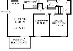 Home Plans Square Feet 2 Bedroom Floor Plans for 700 Sq Ft House Home Deco Plans