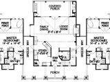 Home Plans Two Master Suites Dual Master Bedrooms