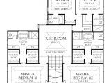Home Plans with 2 Master Bedrooms One Level House Plans with Two Master Suites Arts Bedroom