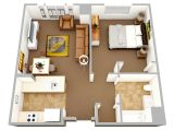 Home Plans with Apartment 1 Bedroom Apartment House Plans