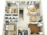 Home Plans with Apartment 2 Bedroom Apartment House Plans