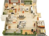 Home Plans with Apartment 4 Bedroom Apartment House Plans