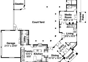 Home Plans with Courtyard In Center Center Courtyard House Plans Homedesignpictures House