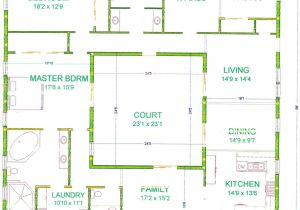 Home Plans with Courtyard In Center Center Courtyard House Plans with 2831 Square Feet This