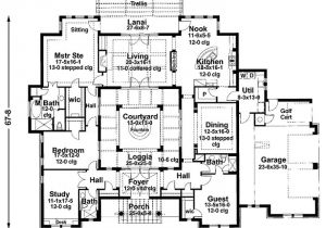 Home Plans with Courtyard In Center House Plans with atrium In Center Google Search House