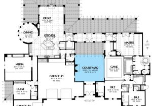 Home Plans with Courtyard In Center Plan W16314md Unique Courtyard Home Plan E