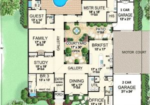 Home Plans with Courtyard In Center Plan W36118tx Central Courtyard Dream Home E