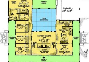 Home Plans with Courtyard In Center with Center Courtyard House Designs Best Site Wiring Harness