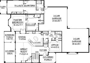 Home Plans with Inlaw Quarters Plan 9517rw In Law Quarters A Plus Craftsman Pantry